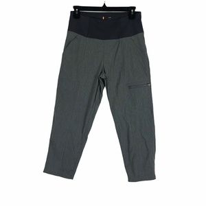 LUCY Gray Crop Pants Small Workout Yoga Gym Zipper